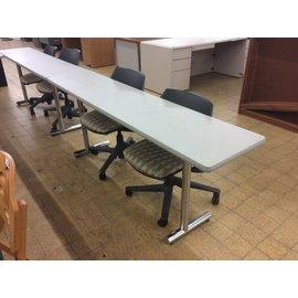 "18x78x29"" Lt gray seminar table (6/18/19)"