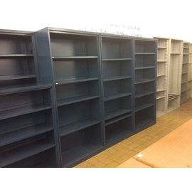 "15x36x80 1/2"" Blue metal bookcase (6/18/19)"