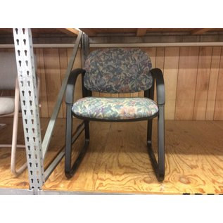 Flower pattern metal frame side chair (6/20/19)