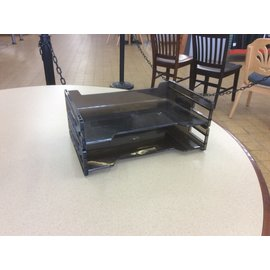 Black plastic 2 tier paper tray (6/24/19)
