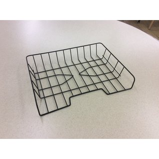 Black metal wire paper tray (6/24/19)