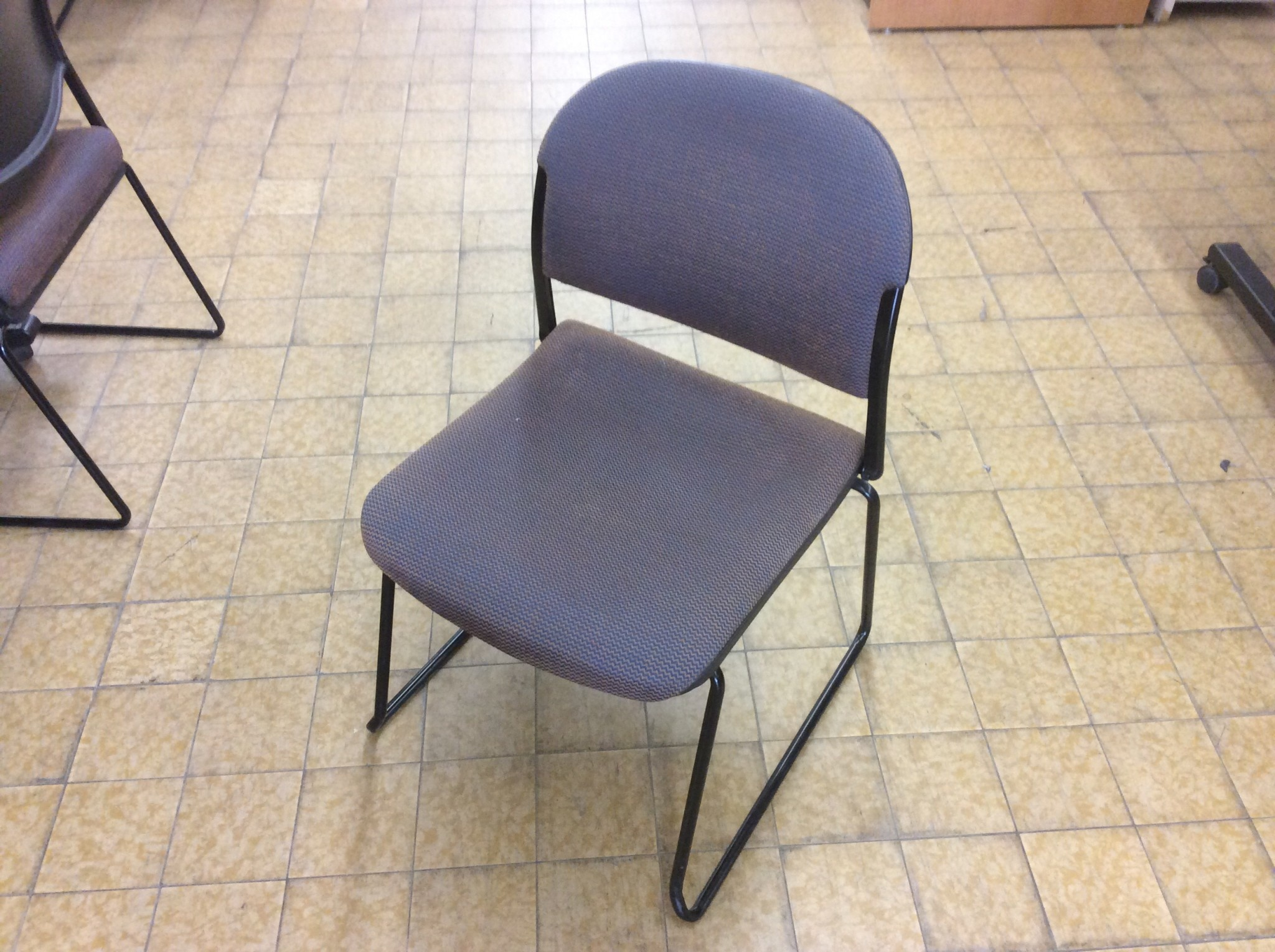 Brown Sled Base Stacking Chair 6 27 19