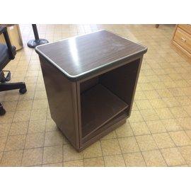 "18x25x29"" Brown metal shelf unit (7/18/19)"