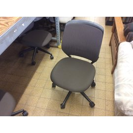 Brown padded desk chair w/o arms (10/14/2020)