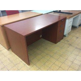 "30x60x29 1/2"" Cherry wood R/ped desk (7/24/19)"