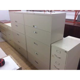 "18x41 1/2x65"" Tan 5 drawer horizontal file cabinet (7/24/19)"