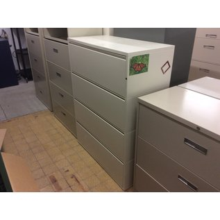 """20x42x55"""" White 4 drawer lateral file cab(7/31/19)"""