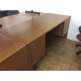 30x66x30 Wood dbl ped desk (7/31/19)