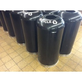 "31 1/2"" Black metal recycle can (8/1/19)"