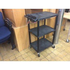 "18x27x41"" Black plastic A/V cart on castors (5/11/21)"