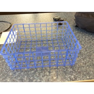 Blue plastic tray holder (8-8-19)