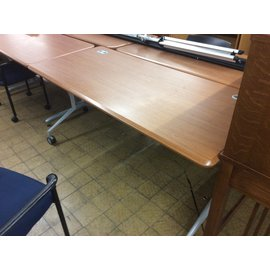"28x66x29"" Wood top work table w/castors on back side (8/14/19)"