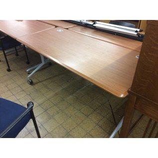 "28x66x29"" Wood top work table w/castors on back side (8/14/19)"