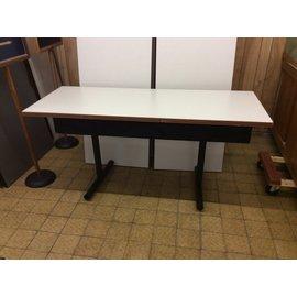 "20x48"" Wood top tan folding seminar table (8/20/19)"