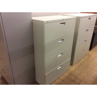 """19 1/4x36x53 1/4"""" Beige metal 4 drawer lateral file cabinet (8/21/19)"""
