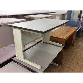 "30x48x29"" Gray/beige computer table (8/29/19)"