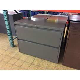 "18x36x29"" Gray 2 drawer lateral file cabinet (9/9/19)"
