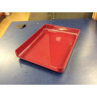 Single maroon plastic paper tray (9/17/19)