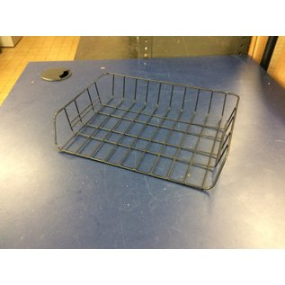 Black metal wire single paper tray (9/17/19)