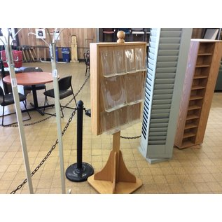 """66"""" Wood information stand (10/9/19)"""