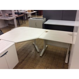 "48x84x28 1/2"" White top Corner/L-Shape Table/Desk (10/02/19)"