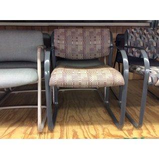 Brown pattern metal frame side chair (10/30/19)