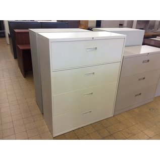 """18x42x52 1/2"""" Beige 4 drawer lateral file cabinet (10/10/19)"""