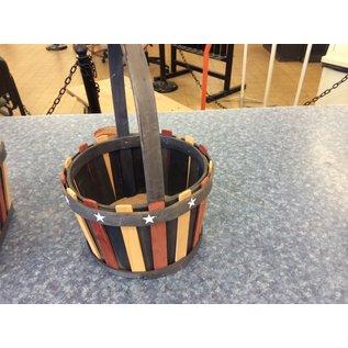 Stars &stripes round basket (10/23/19)