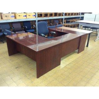 """65x100x65"""" U-Shape wood desk (10/24/19)"""