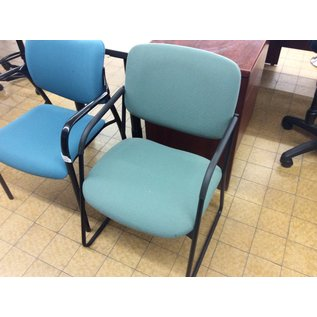 Green padded metal frame side chair (10/30/19)