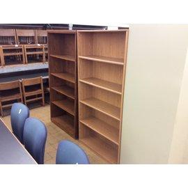 "11 1/2x35 1/2x72"" Lt wood bookcase (10/30/19)"
