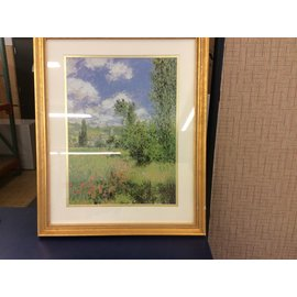 """18x22"""" gold frame grassy hill picture (10/31/19)"""
