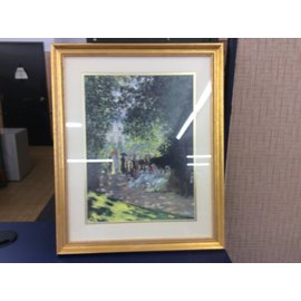 "18""x22"" gold frame sitting in park picture (10/31/19)"