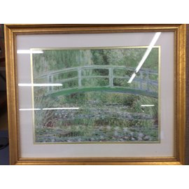 "22""x18"" gold frame bridge over creek pic. (10/31/19)"