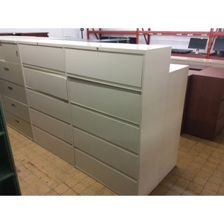 18x42x65 beige 5 drawer lateral file cabinet (11/6/19)