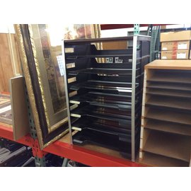 8 1/2x14 Black plastic 7 tier paper tray (11/11/19)