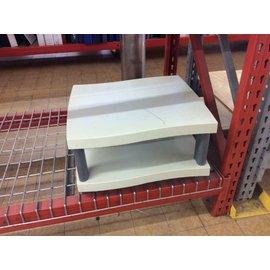 "18x20x11"" Beige plastic printer/copier stand 11/12/19)"