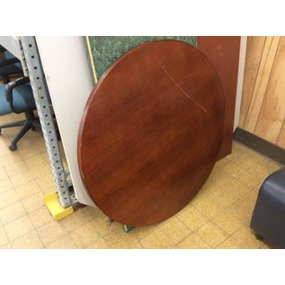 "42"" Cherry round table top - scratch on top (11/13/19)"