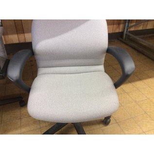 Grey desk chair w/arms &castors (11/14/19)