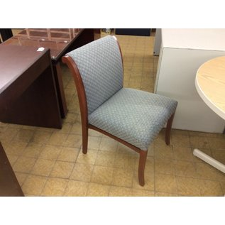 Gray padded wood frame side chair (11/20/19)
