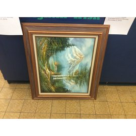 """32x28"""" Framed painting (11/27/19)"""