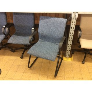 Blue padded sled base side chair (12/5/19)