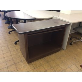 "18x45x29"" Brown steelcase table w/shelf (12/5/19)"