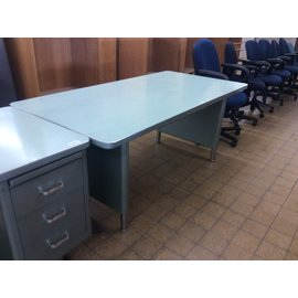 """36x72x29"""" Green steelcase table (12/19/19)"""