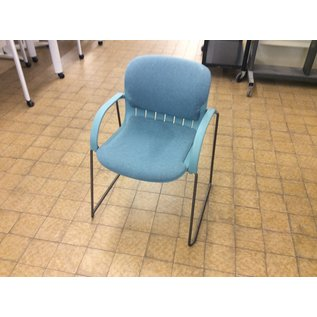 Teal sled base padded side chair. (1/9/2020)