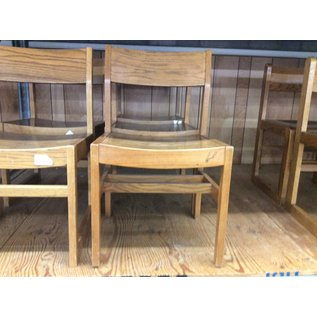 Wood student desk chair (1/9/2020)