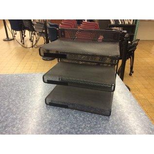 Black metal mesh 3 tier paper tray - desktop/hanging (1/13/2020)