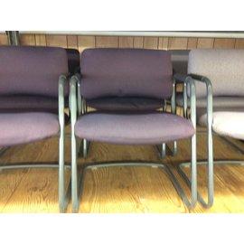 Purple sled base metal frame side chair (10/21/2020)