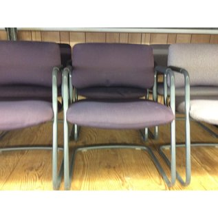 Purple sled base metal frame side chair (10/21/2020)