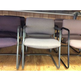 Lt purple pattern sled base metal frame side chair (10/21/2020)